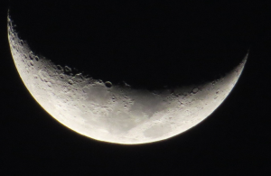 A moon photographed in the Southern Sky of South Africa by Zulumathabo Zulu (c) 2015.